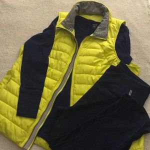 Tangerine- chartreuse vest